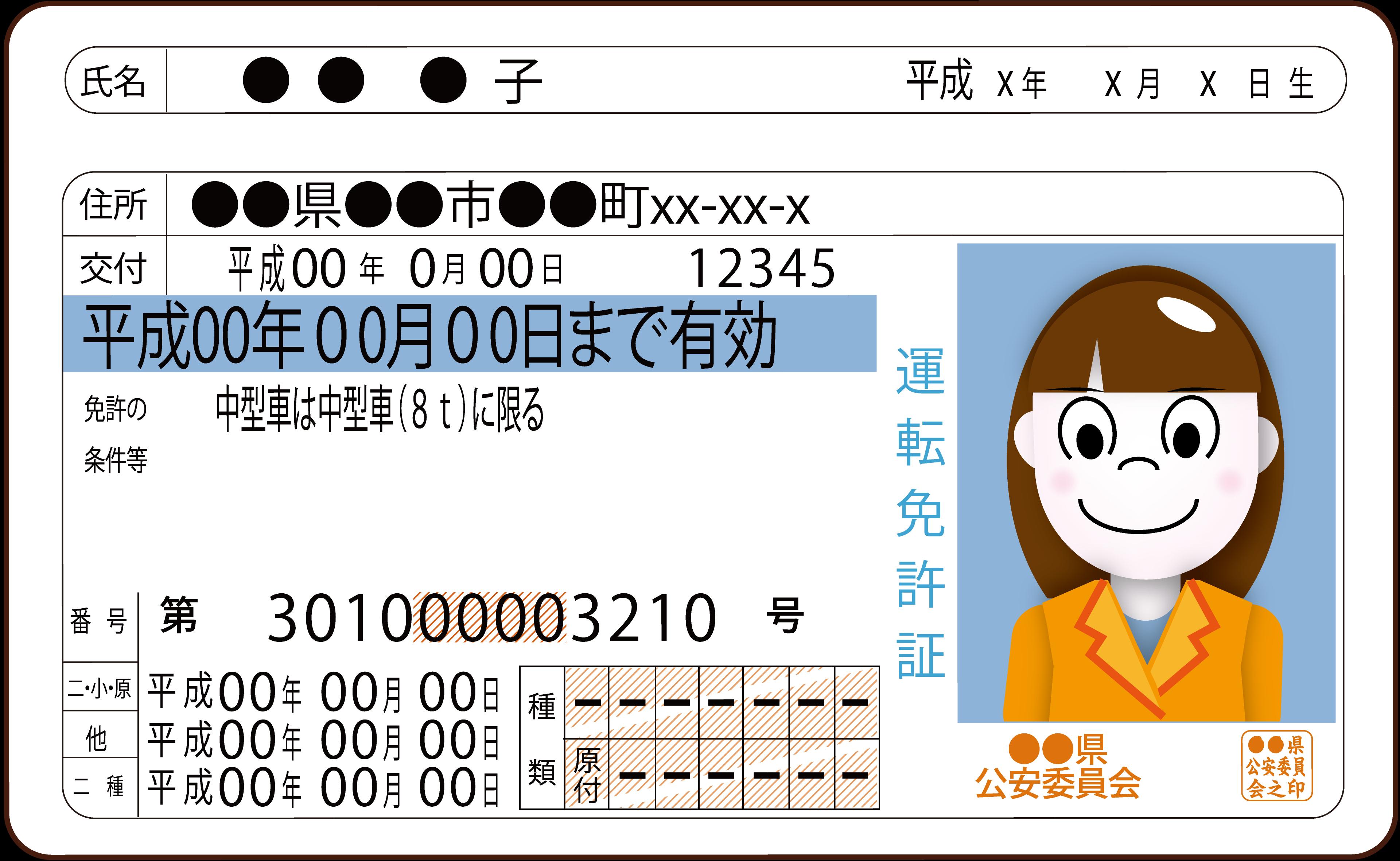 身分証明書である免許証